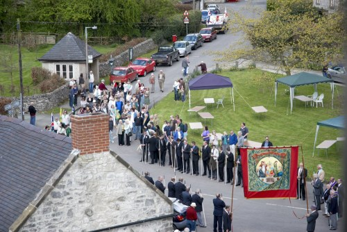 The Procession Arrives at St. Peter's Church