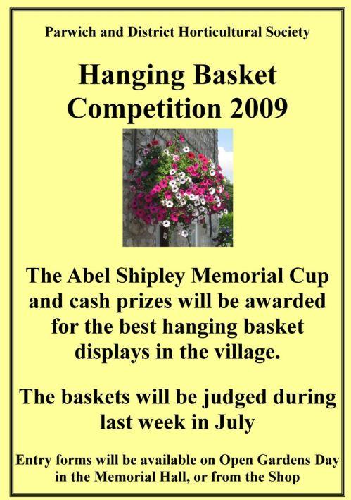 Hanging basket competition 2009