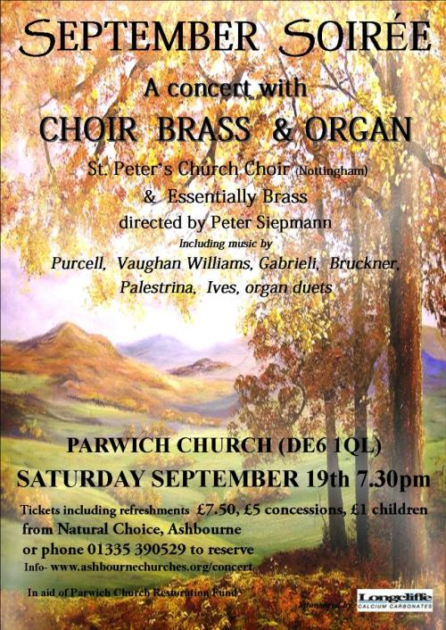 September Church Soiree Poster