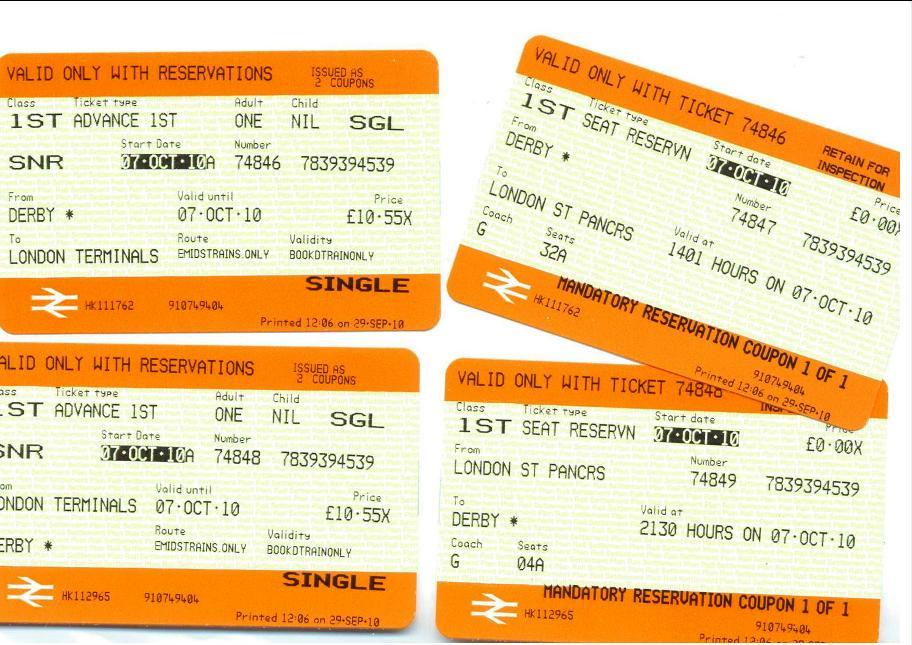 Free Train Ticket to London | PARWICH.ORG