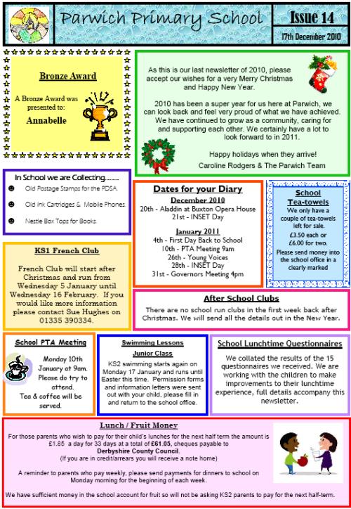 School Newsletter No 14 – School Newsletter