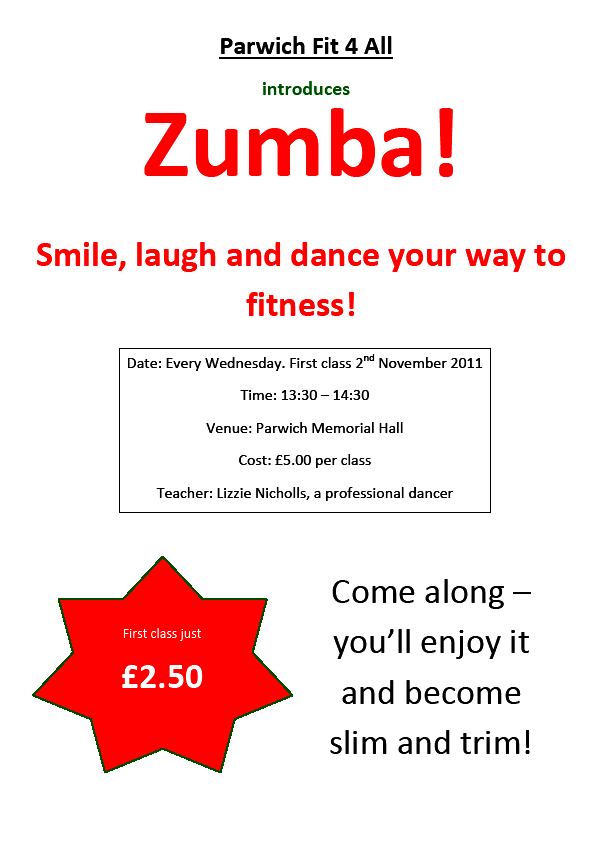 zumba class parwich fitness for all parwichorg