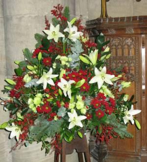 Church Christmas Flowers 029