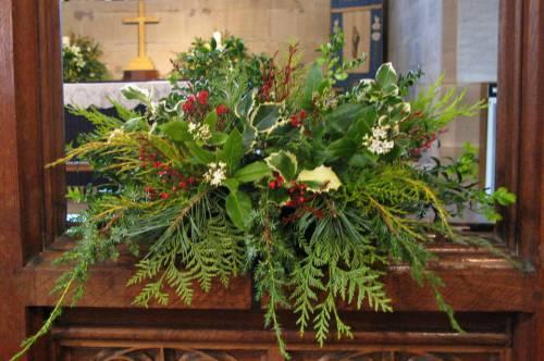 Church Christmas Flowers 034