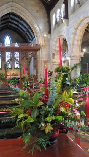 Church Christmas Flowers 090