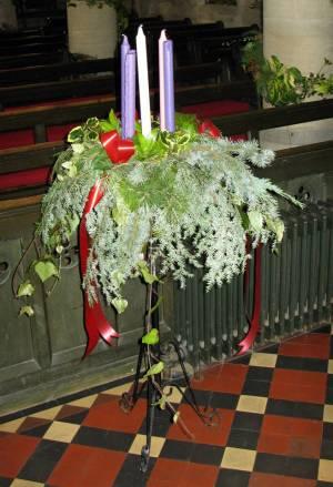 Church Christmas Flowers 099