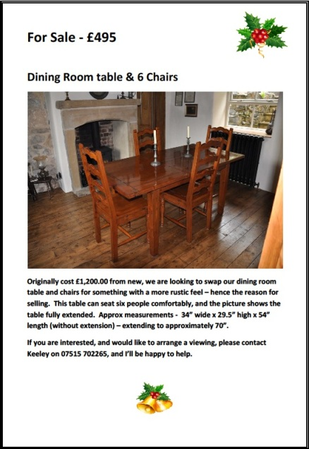 dining table  ad
