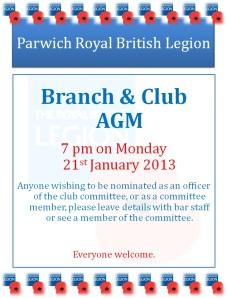 AGM Club & Branch 2013