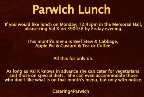 parwich lunch jan13 Reminder