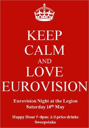 eurovision 2013 keep calm poster