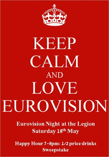 eurovision 2013 keep calm poster