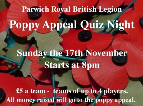 Poppy appeal quiz 17Nov13