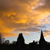 Moody evening sky