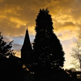 Moody evening sky in Parwich