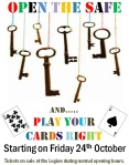 open the safe & cards starting poster