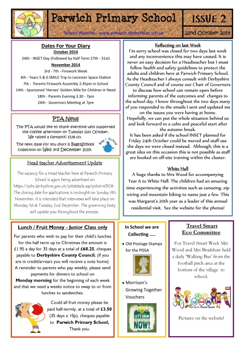 school newsletter 2