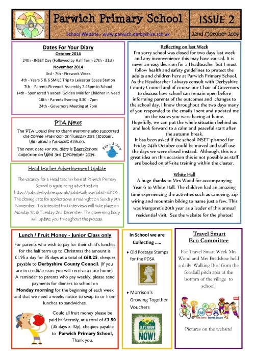 school newsletter 2