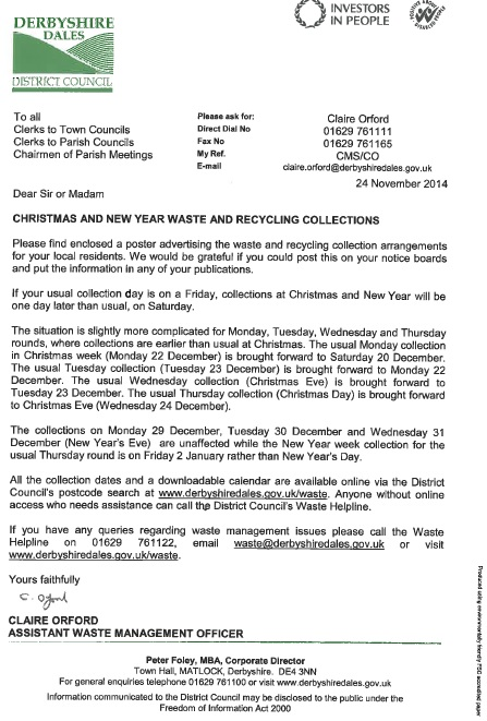 christmas waste letter