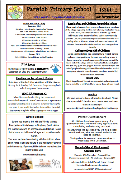 school newsletter 3