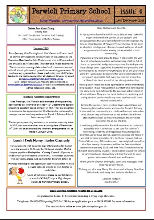School newsletter 4