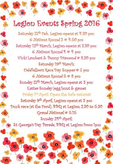 legion events spring 2016