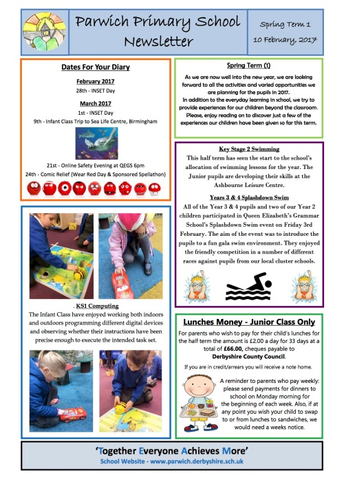 Parwich School Newsletter  ParwichOrg