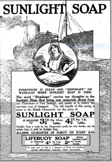 1917 jan sunlight soap