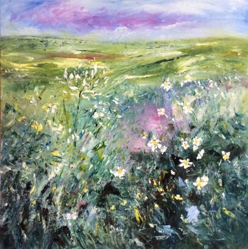Derbyshire meadows, Oil