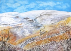 Snow on the Peaks, Derbyshire - Gillian Radcliffe