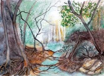 The Kalamari Falls, Glalova - Gillian Radcliffe