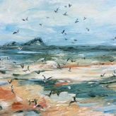 'Flight' Rhossili Bay, The Gower Peninsula - Ruby Hickmott